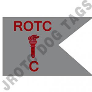 Guidon Flag ROTC With Torch And Letter C (Each) (Takes Minimum 2-3 Months)