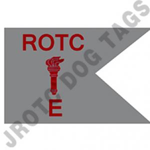 Guidon Flag ROTC With Torch And Letter E (Each) (Takes Minimum 2-3 Months)