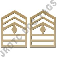 1SG Bright Army Rank (Pair) JROTC/ROTC