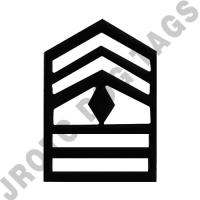 1SG Subdued Army Cadet Rank (Pair)