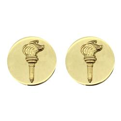JROTC Collar Device Brass Enlisted Torch Army