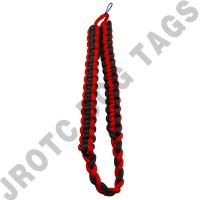 Red / Black Shoulder Cord (Button Loop) (Each)