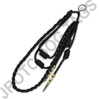 Black Staff Cord Gold Tip (Button Loop)