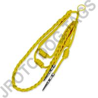 Yellow Staff Cord Silver Tip (Button Loop)