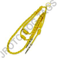 Yellow Staff Cord Gold Tip (Button Loop)
