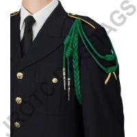 Kelly Green Staff Cord Silver Tip (Button Loop)