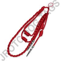Red Staff Cord Silver Tip (Button Loop)