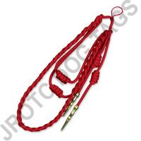 Red Staff Cord Gold Tip (Button Loop)