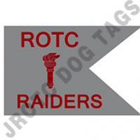 Guidon Flag ROTC With Torch And Letter RAIDERS (Each) (Takes Minimum 2-3 Months)