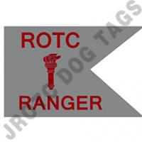 Guidon Flag ROTC With Torch And Letter Ranger (Each) (Takes Minimum 2-3 Months)